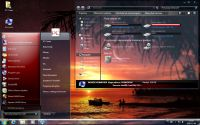 Zrzut ekranu: Windows 7 glass red theme